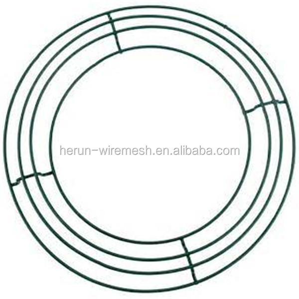 hr metal wire wreath frames for christmas tree garden use - Wreath Frame