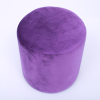 Modern Bedroom Fabric Furniture Chair Ottoman Round Velvet Footstool