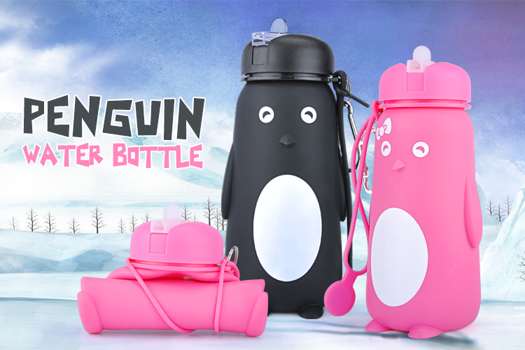2018 Hot Promotional Silicone School Water Bottle For Kids