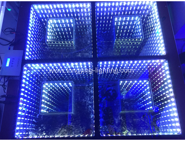 2019 Infinity Mirror 3d Tunnel Party Led Dance Floor
