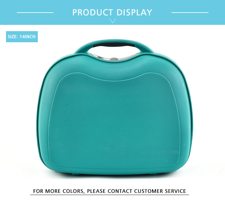 "BUBULE Travel Portable Women 14"" Capacity Carry On Cosmetic Case"