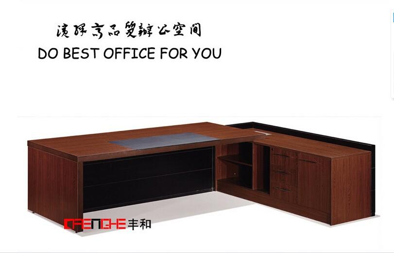 En bois massif bureau de direction chine meubles grand bureau de