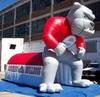 inflatable spot bulldog mascot tunnel for football