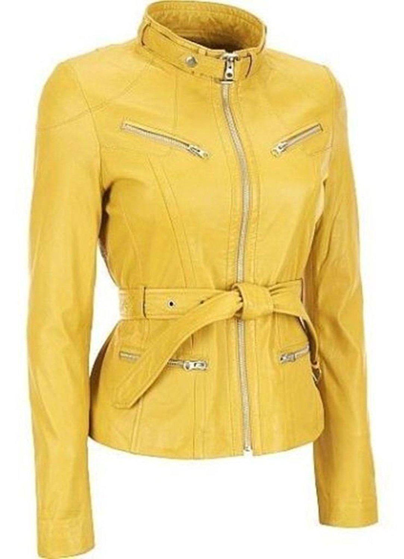 d8f5903ff5f Get Quotations · Western Leather Women's Lambskin Leather Bomber Biker  Jacket