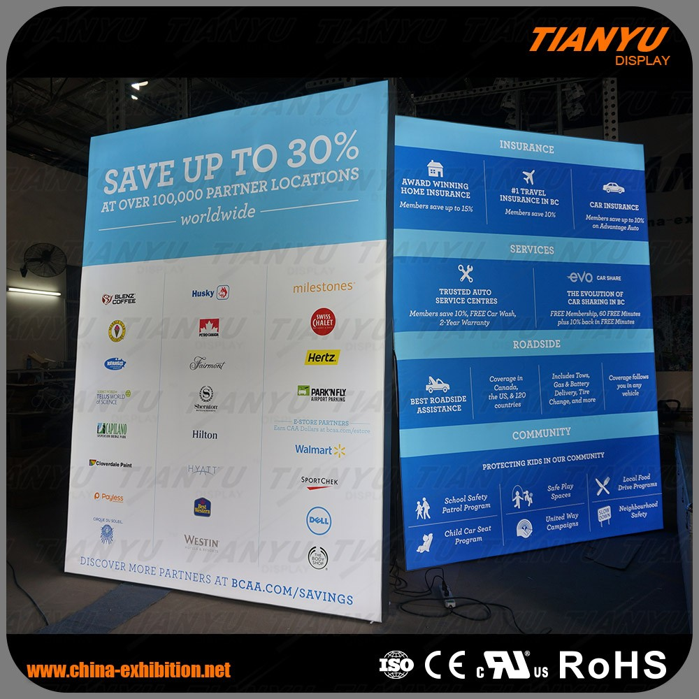 2016 fashion illuminated signs solar light box in super market