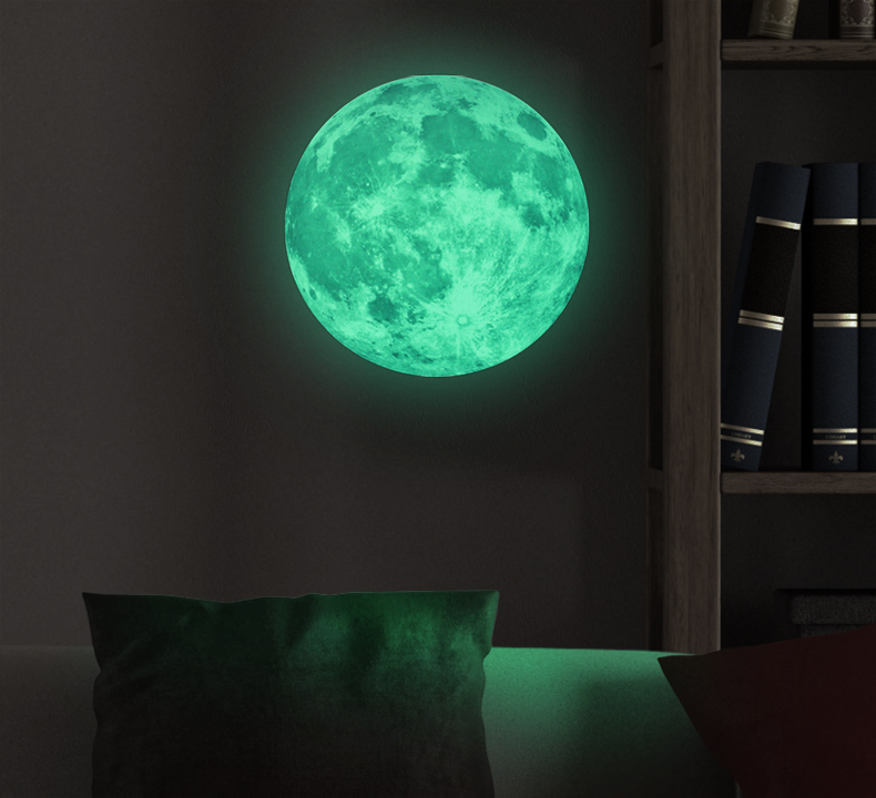 FL1073 30cm Amazon Hot Seller Luminous Bright Moon Glow in the Dark Stars