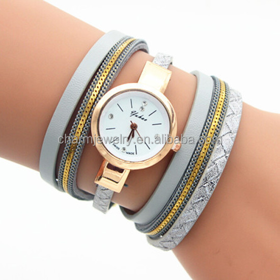 2016 New Fashion Leather Bracelet Watches Casual Wrist Watch for ladies BWL195