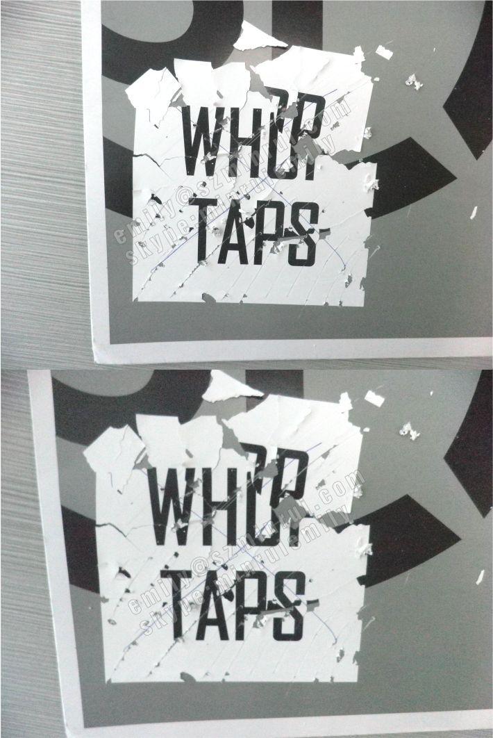 Custom Printed Eggshell Graffiti StickersDestructible Breakable - Graffiti custom vinyl stickers