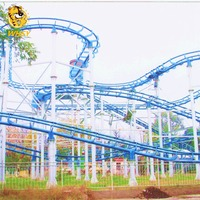 Professional park playground equipment amusement rides Crazy Spinning Roller Coaster Sliding dragon