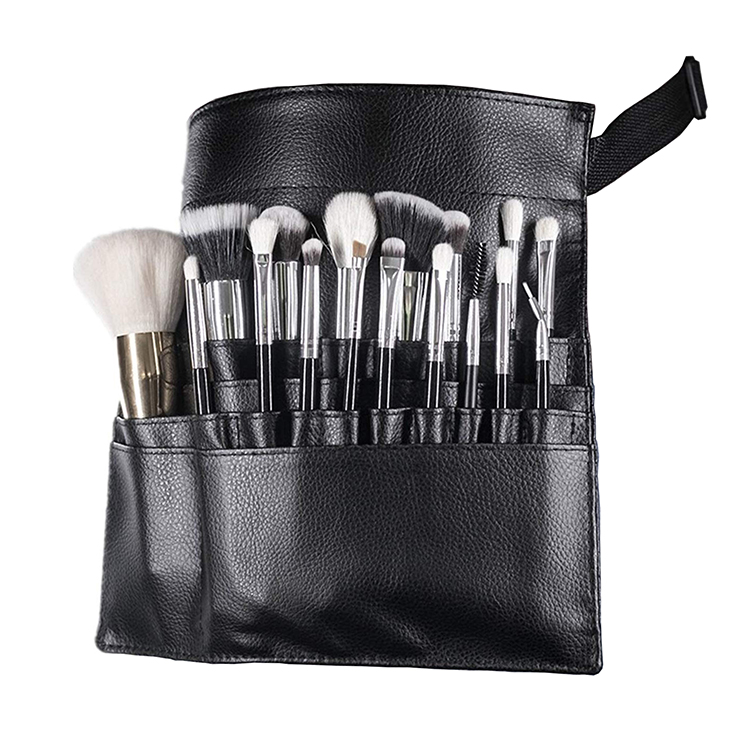 22 Pockets Makeup Brush Belt Professional Cosmetic Makeup Brush Bag with Belt Strap Makeup Apron