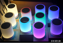 LED Wireless Portable Mini Speaker Loudspeaker Support T-F card USB with Mic for smart phone