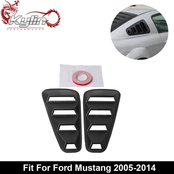 Kylin racing Black Window Louvers Scoop Cover for Ford Mustang 2005-2014
