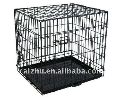Wire Folding Pet Crate Dog Cage Folding dog carrier