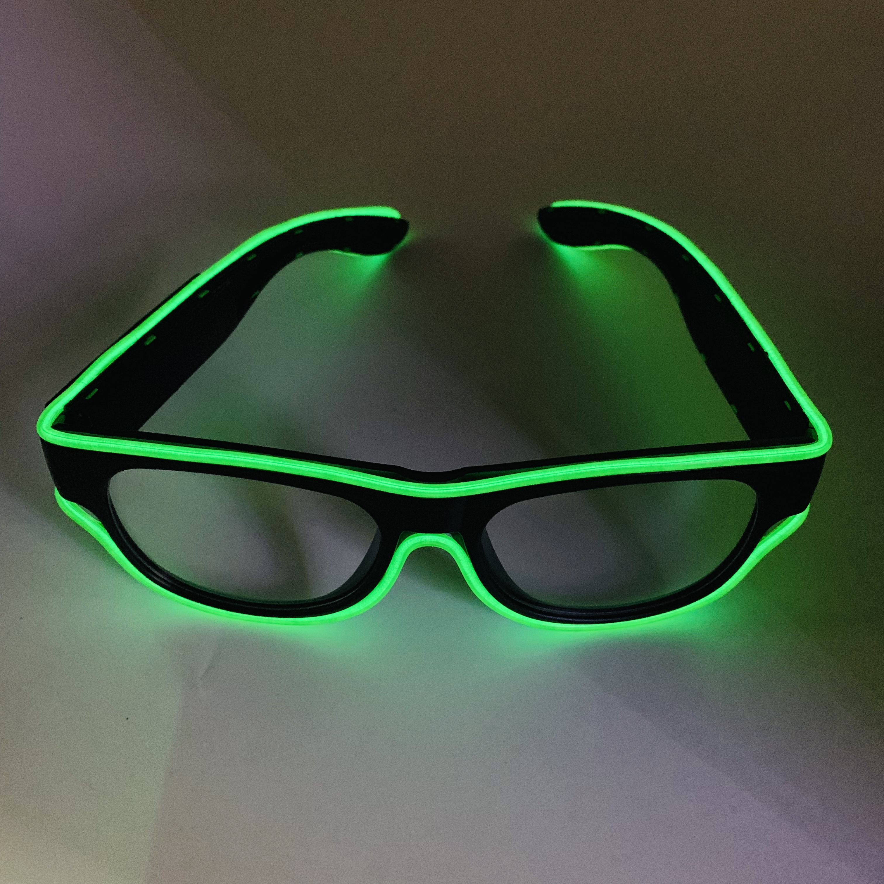 New products USB rechargeable function wireless neon glasses 2.3mm light up EL wire sunglasses