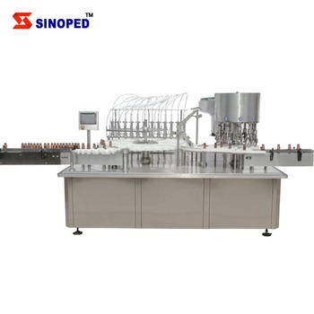 Monoblock Vial Bottle Liquid Filling Stoppering Capping Machine