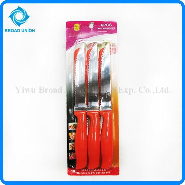 Hot sale 6PCS Stainless steel Knife Steak Knife