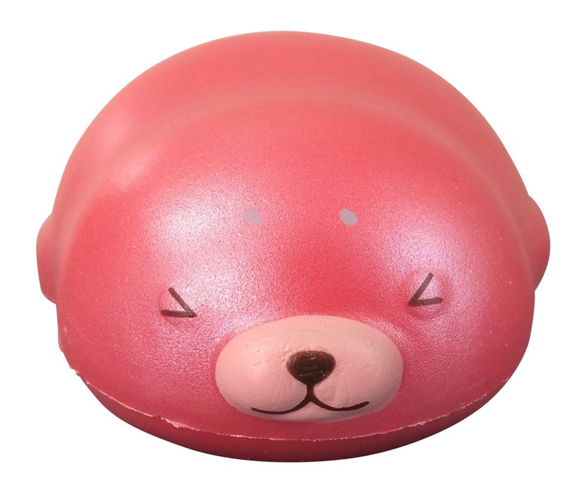 Puni Maru MINI Mochi Seal Squishy with 2 Bonus Mini Squishies from Jenna Lyn! (Strawberry)