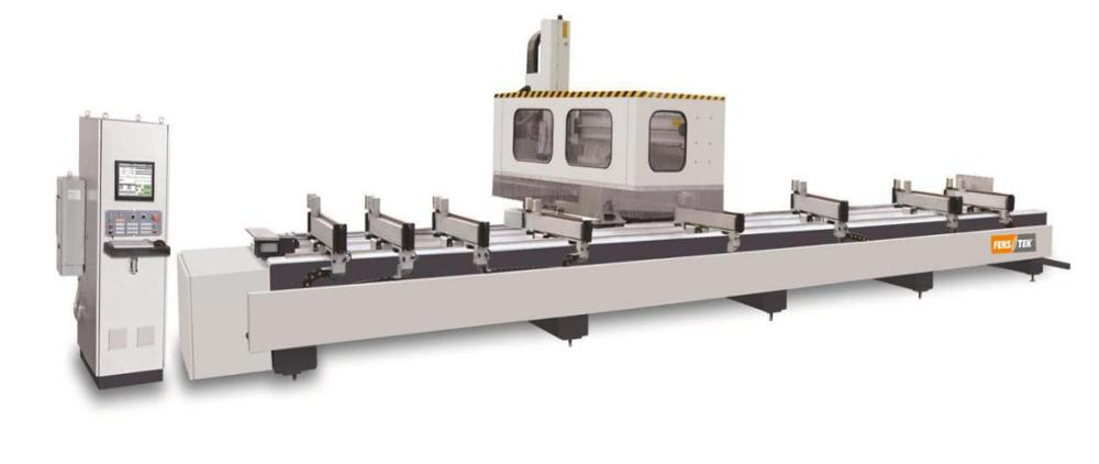 4 axis cnc machine center for aluminum curtain wall profile