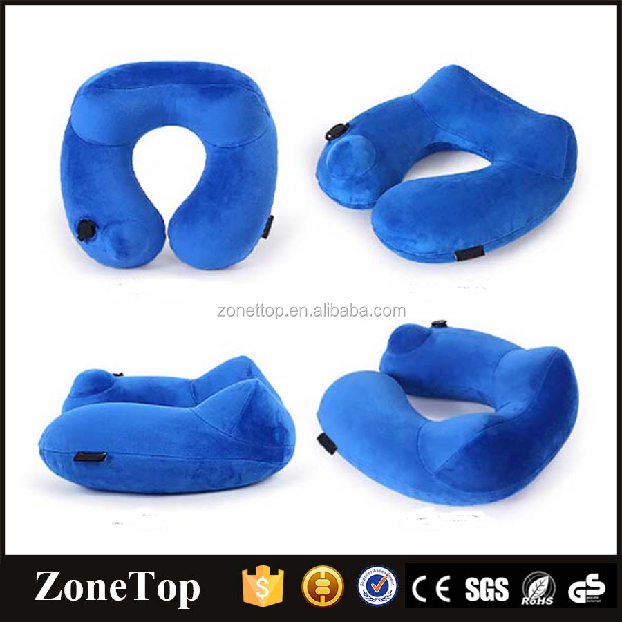 Travel neck pillow comfortable inflatable soft travel pillow 2017