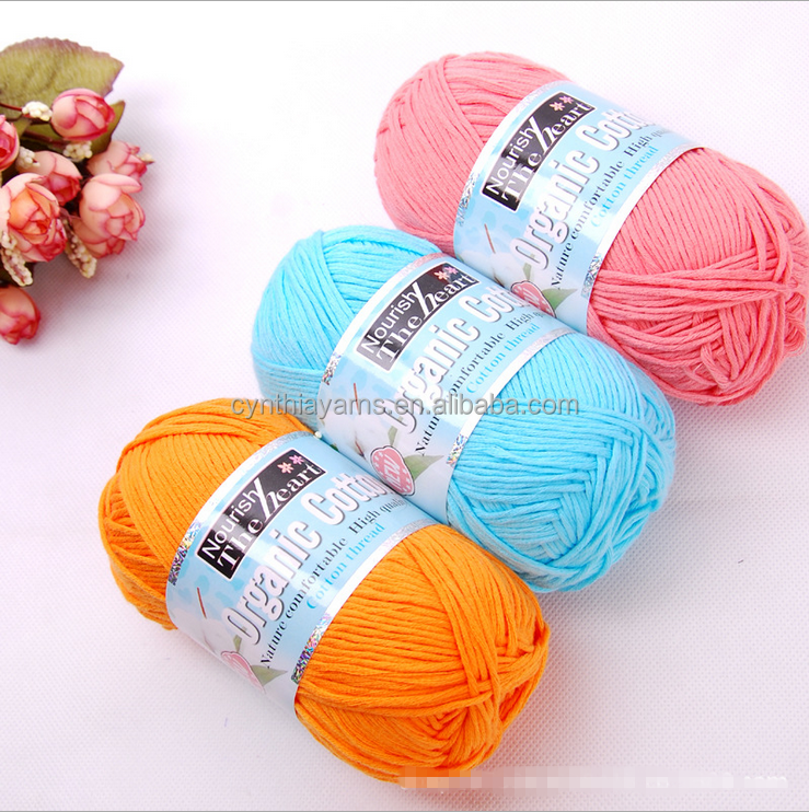 High quality 100% mercerized 16ply cotton yarn t-shirt yarn
