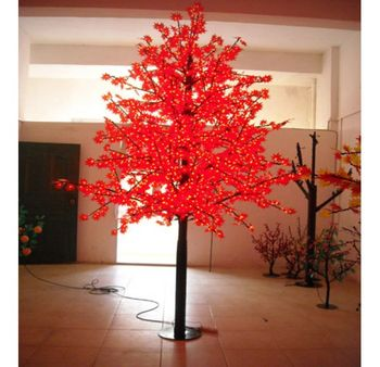 Landscape Led Maple Tree 3m Artificial Red Maple Tree Led Outdoor