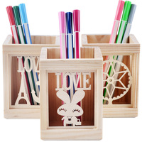 Log Pen Creative Pine Fashion Desktop Stationery Storage Box
