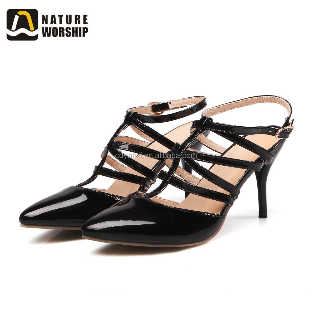 97ded6f726 Moda Preço Baixo Mulher Sapatos de Couro Sandália De Salto Alto ...