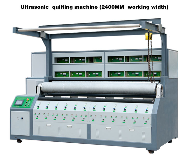 2017 Hot Sell Automatic Ultrasonic Quilting Machine and Embossing Machine Made with 2.4M in China