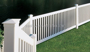 New design farm vinyl fence pvc post and rail fence