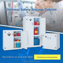 Laboratory Corrosive Substances Storage, fireproof chemical cabinet for strong acid