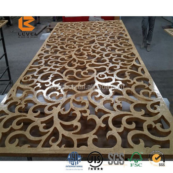 Cnc Design Mdf Grille Panels Laser Cutting Screen Divider Partition