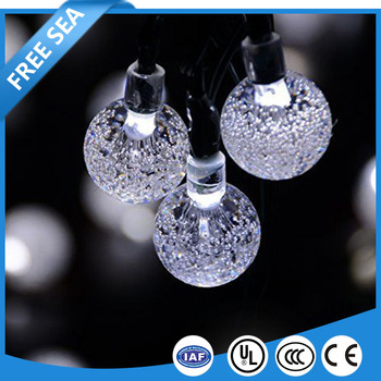 Waterproof Fairy Star Solar Bubble Ball String Christmas Lights Decor Light