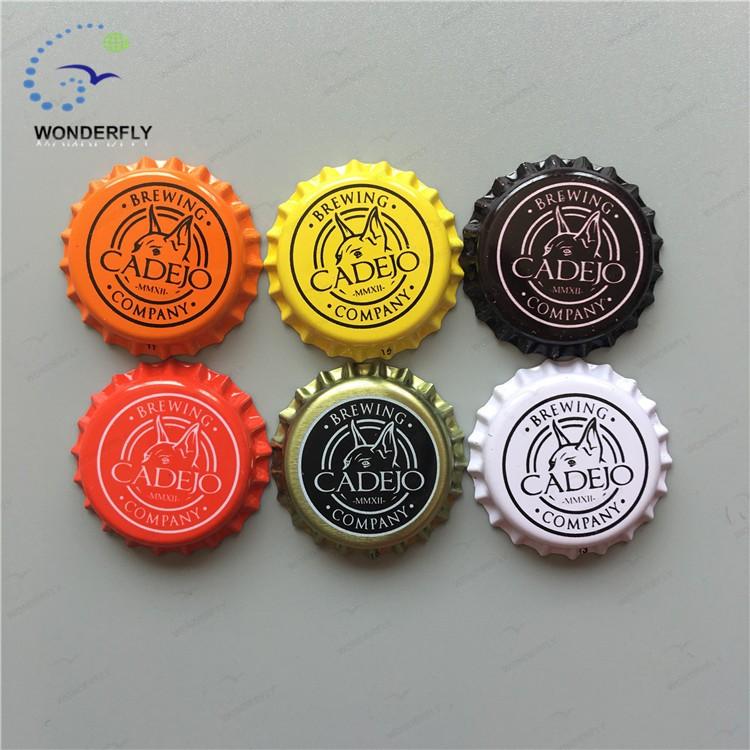 Metal 26mm make custom bottle caps liner is pvc and pe for Custom beer labels and caps