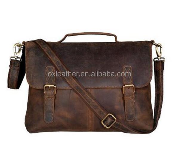 Buffalo Leather Briefcase Messenger Shoulder Bag Mens Laptop Satchel Business
