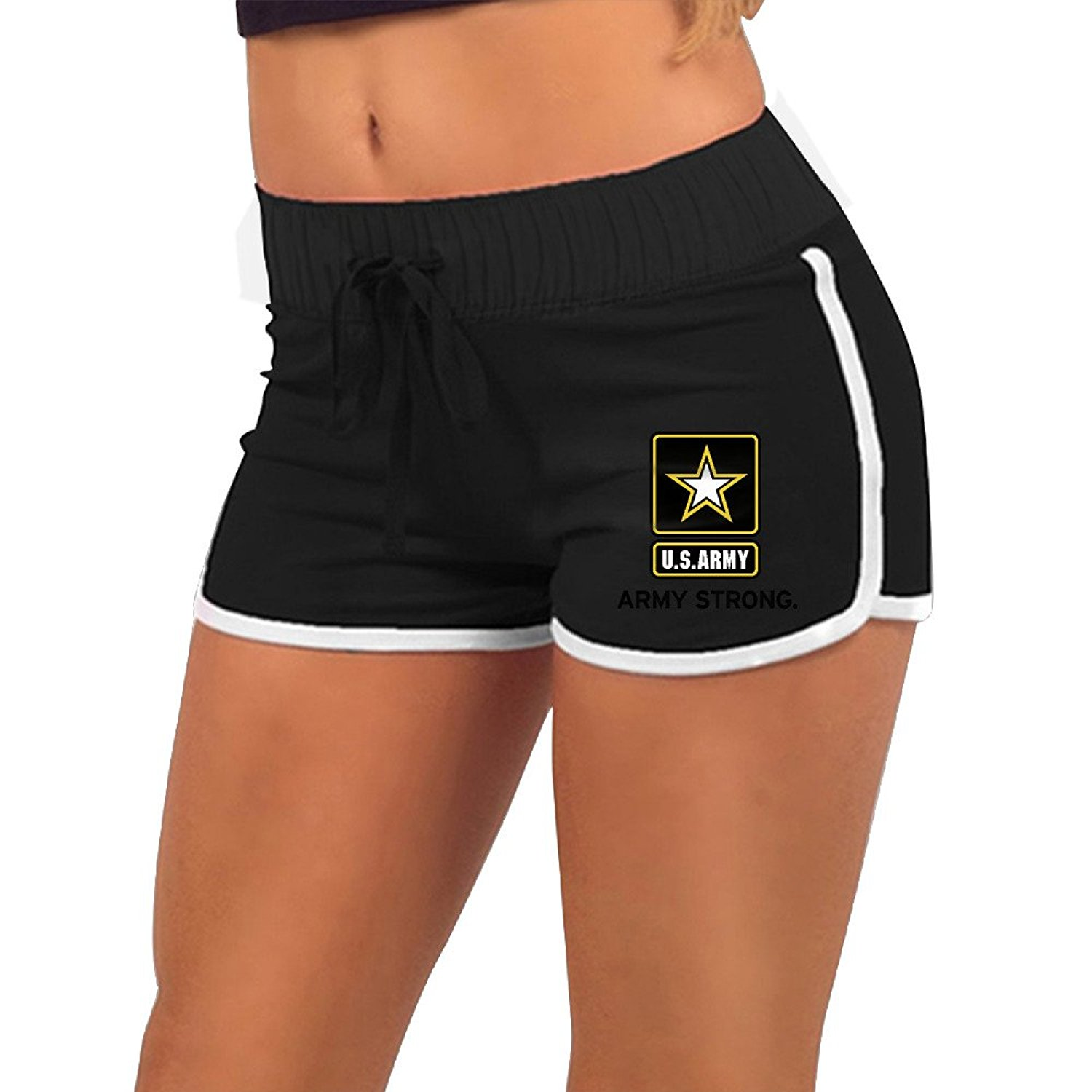 6ae32a226bf27 Get Quotations · New Summer Pants Women GirlArmy Strong US ArmySports Shorts  Gym Workout Yoga Short Women Shorts Hiphop
