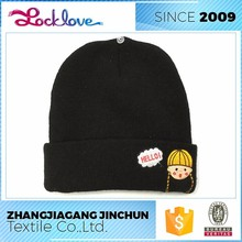 Custom Made Acrylic Knitted Beanie Hat Manufacturer