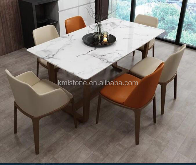 Hot Sale Modern Square Marble Top Dining Table