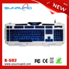 Macro LED Backlit USB Gaming Keyboard for PC