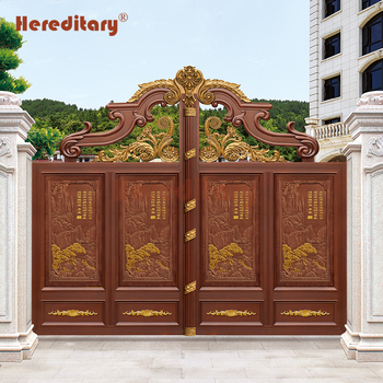 Exterior Aluminum Automatic Swing Indian House Main Gate Designs For