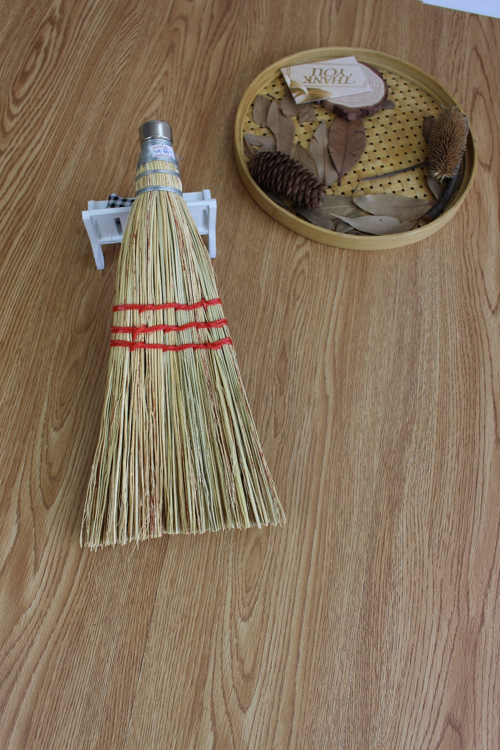 Esd Corn Straw Hand Whisk Broom With Metal Ring Cap Buy