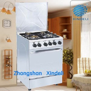 60*60 standing gas range oven cooker in white color