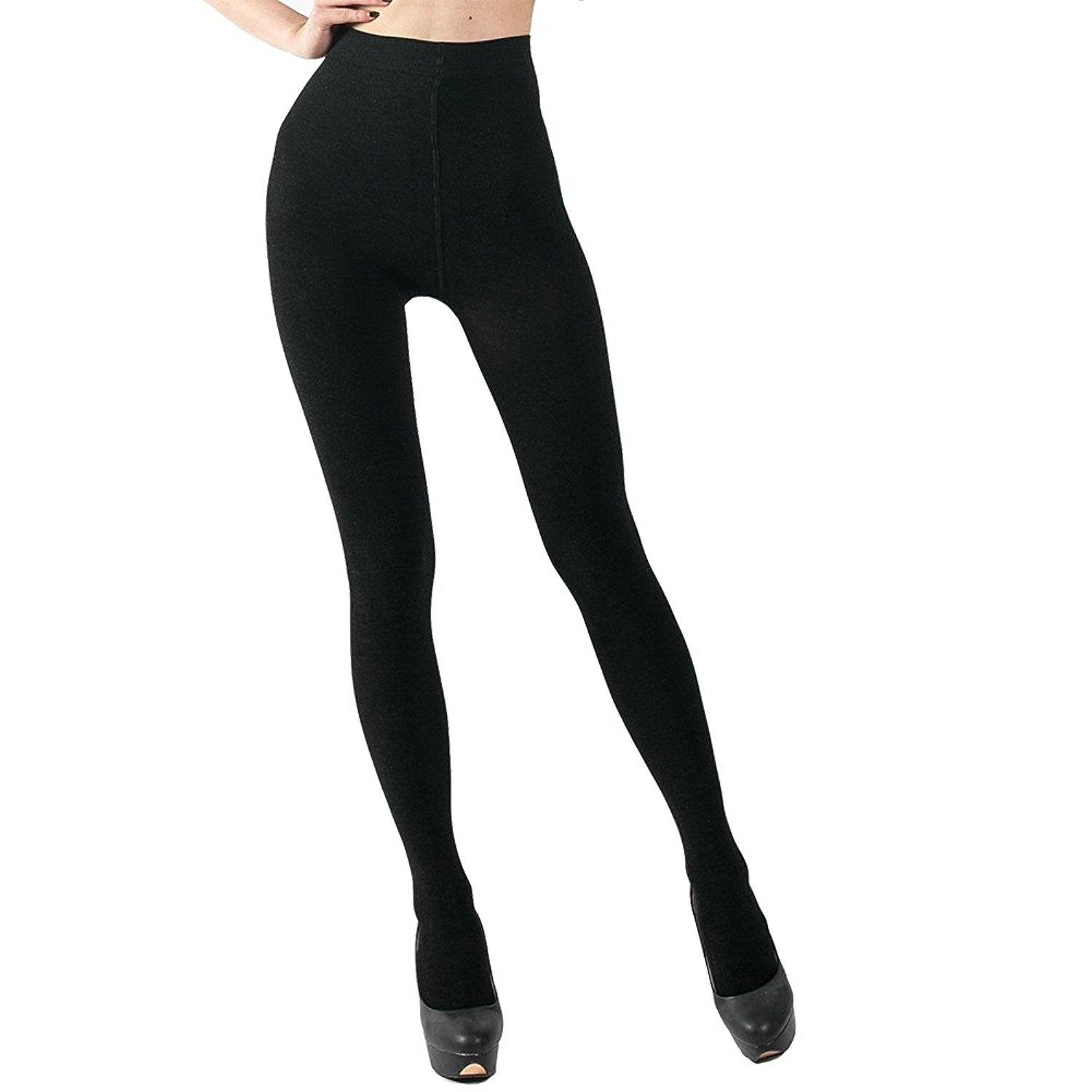 f9eb55f2ecacb2 Get Quotations · INCHER Fleece Leggings, Stirrup Leggings,Warm Fleece Lined  Tights Thermal Winter Pantyhose Tights