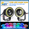 2016 hot selling Car SUV Angel Eye Green COB Halo Ring waterproof dc12v led daytime running lights