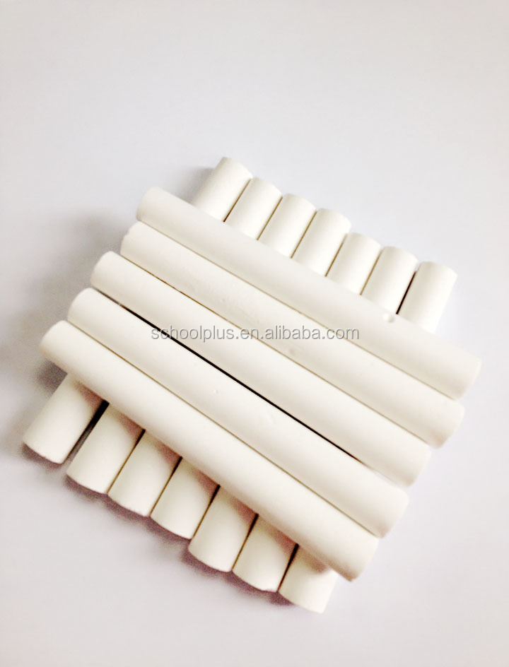 High Quality Non-Dust Non-Toxic 12pc White Chalk for School