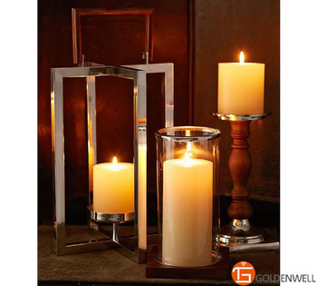 3pc luminara classic ivory white flameless candle wholesale flickering flame led wax candles