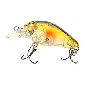 Fishing bait - Trulinoya DW24 39mm Mini Crank fishing bait hard fishing lures with the BKK for fish predator for pike, Wells, cod, spinner,Sandre-red + gold