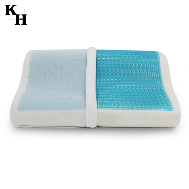 Cooling silicone memory foam gel pillow