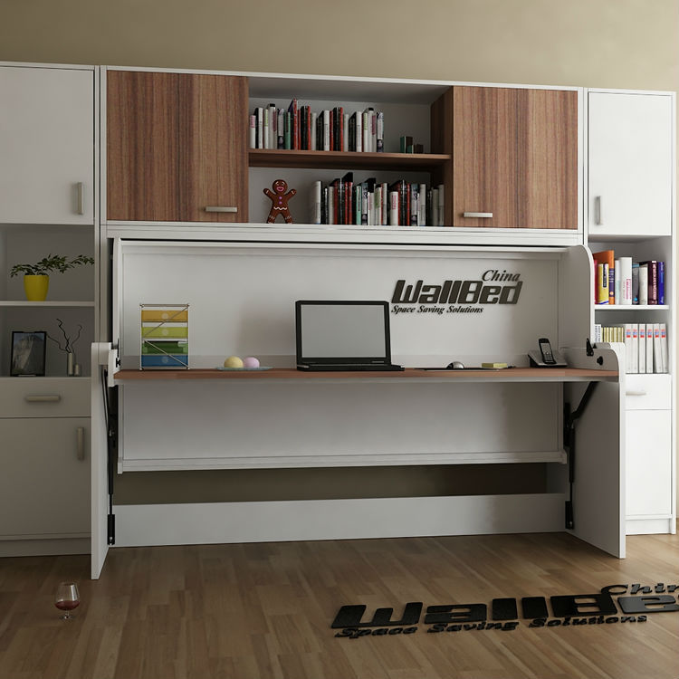 Bureau bed muur bed met bureau mechanisme bedden product for Bed in muur