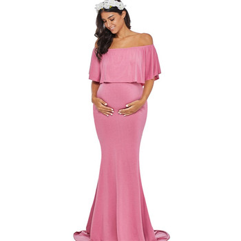995512208f4 2018 latest fashion 10 color off shoulder sexy pregnant clothing mermaid  phototography maxi maternity gown dresses