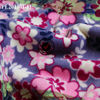 flowers printed polar fleece